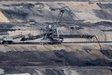 Germany, North Rhine-Westphalia,?Inden, Bucket-wheel Excavator Working In Open-pit Mine