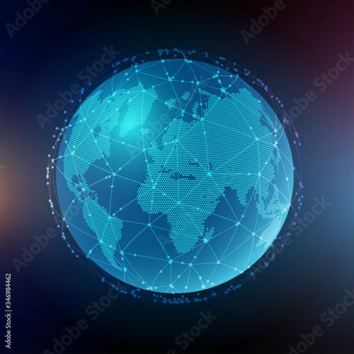 Fototapeta Abstract global communications background obraz