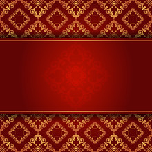 Elegant Background In Red And ...