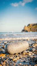 Pebble Rock On A Beach Near Th...