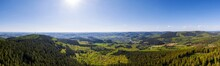 Rothaar Mountains With View Of The Siegerland Germany High Definition Panorama