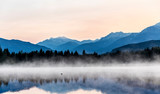 Sunrise in a lake near Whistler, British Columbia, Canada - 347000226