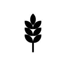 Wheat Glyph Icon Design Vector...