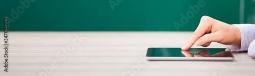 Fototapeta Hand Over Digital Tablet obraz
