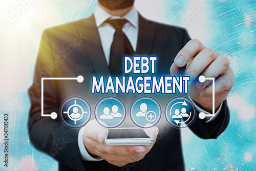 Photo Handwriting text Debt Management