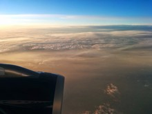 Cropped Jet Engine Above Cloud...
