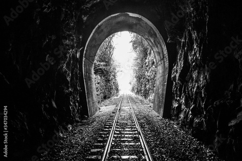 Luz ao fim do tunel Canvas Print