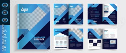 Fotografija Creative Multipurpose Blue Brochure flyer template design, booklet template in a