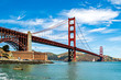 The Golden Gate Bridge is a suspension bridge spanning the Golden Gate, the one-mile-wide (1.6 km) strait connecting San Francisco Bay and the Pacific Ocean.