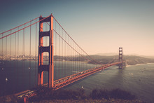 Golden Gate Bridge Over Bay Ag...