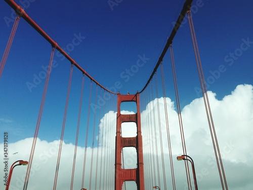 Canvas Print Golden Gate Bridge Against Blue Sky