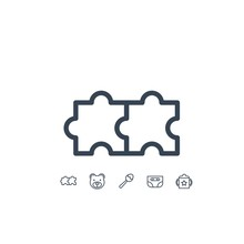 Puzzle Icon Vector Illustratio...