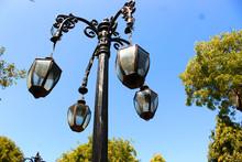 A Black Lamp Looking Like A Ba...