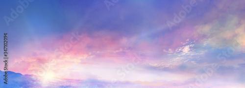 Obraz 朝焼けの雲海 - fototapety do salonu