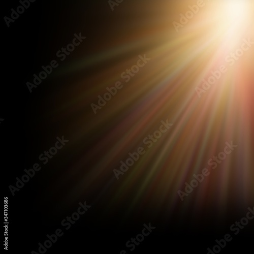 sunbeam sunlight beam sunshine sunset bright Canvas Print