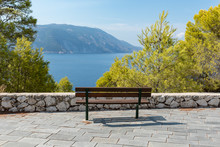 Sea Front Bench Of Greece