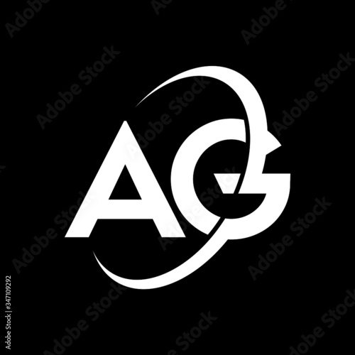 AG Letter Logo Design Wallpaper Mural