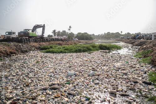 Photo River pollution in Accra, Ghana