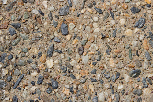 Exposed aggregate concrete  detail pattern Canvas Print
