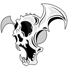 A Scary Vector Skull With An O...
