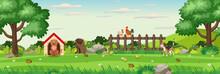 Background Scene With Animals ...