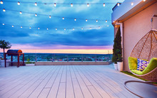 Rooftop Deck Patio Area With H...