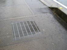 Sidewalk On A Rainy Day
