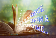 Open Book Of Fairy Tales With ...