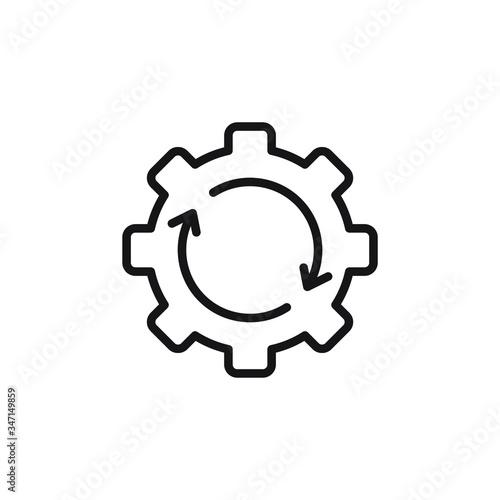 Photo Processing icon gear vector