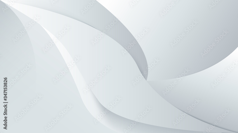Fototapeta Abstract white background with smooth lines. 3d Vector illustration