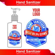 Hand Sanitizer Label Design Ve...
