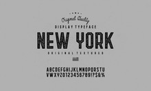 Vintage, Octagonal, Textured Bold Font With Grunge Effect. Vector Alphabet Letters, Typeface.