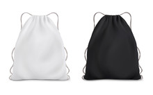 White Black Backpack Bag On A ...