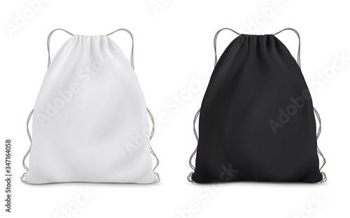 Fotografía White black backpack bag on a rope