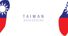 Taiwan Flag Map Background. Th...