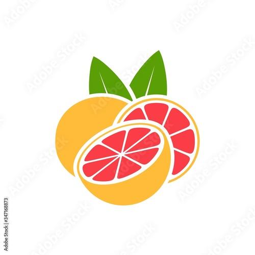 Grapefruit logo. Isolated grapefruit on white background Fototapet