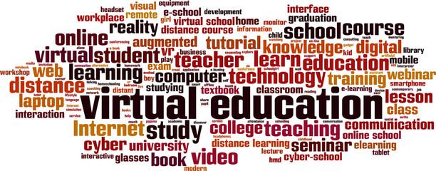 Virtual education word cloud