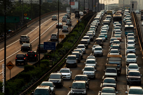 Fototapety, obrazy: High Angle View Of Traffic On Road In City