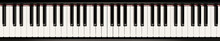 Piano Keyboard Close Up View 3...