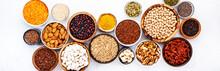 Various Superfoods, Legumes, C...