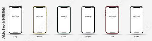 Fotografering Realistic Smartphone Mockup in Vector Style