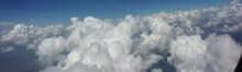 Panoramic View Of Clouds In Blue Sky