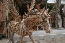 Pegasus Horse Statue. Art And ...