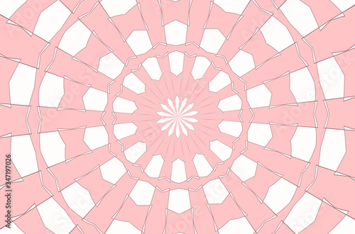 Valokuvatapetti illustration of an abstract pattern kaleidoscope, the rays from the center to th