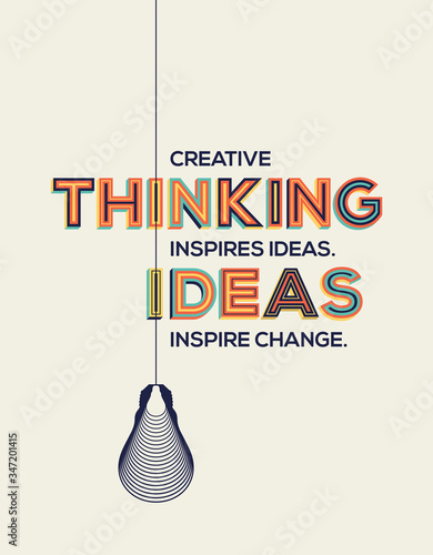 Plakat do biura  quote-on-creative-thinking-and-ideas-creative-design-for-your-wall-graphics-typographic-poster-and-office-space-graphics