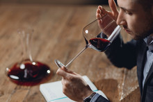Winemaker Sommelier Man Sniffi...