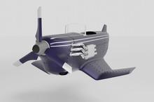 3d Render, 3d Illustration Steam Punk, Diesel Punk Concept Of Air Jet