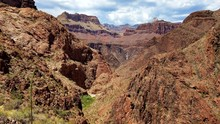Scenic View Of South Kaibab Trail In Grand Canyon National Park