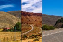 Winding Roads Of Utah And Idaho, In South Western USA