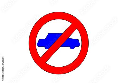 Fotomural Prohibido la circulación de vehículos
